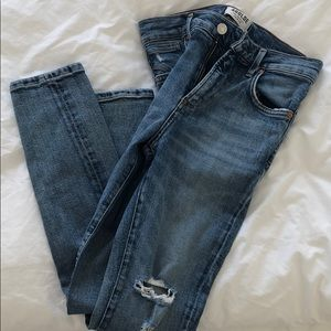 Agolde | High-Waisted, Ripped Ankle Jean